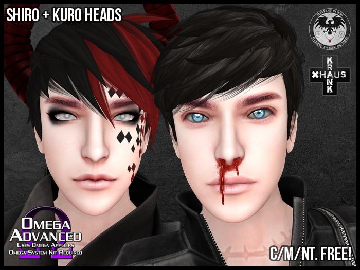 [M.O.R]/krankhaus - Shiro + Kuro Heads