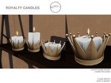 .birch. Royalty Candle Gold- REZ ME