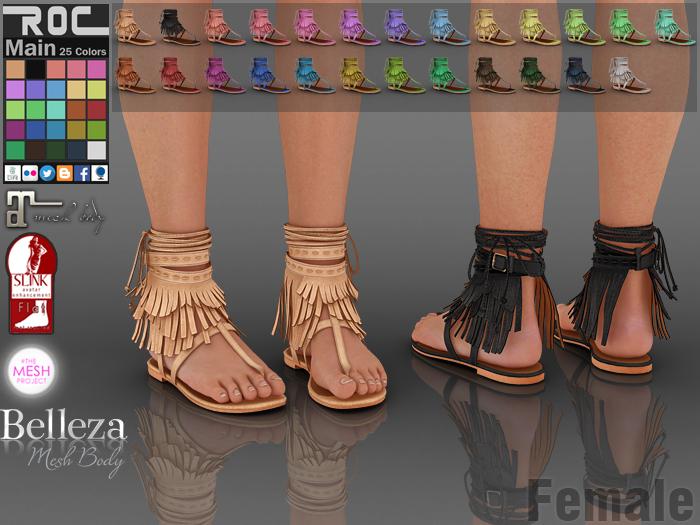 ::ROC:: Sabrina Sandals-Flip Flops