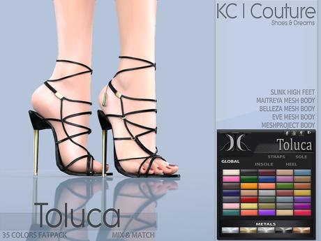 -KC- TOLUCA HEELS / MAITREYA BELLEZA SLINK LEGACY EVE