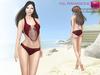 %50SUMMERSALE Full Perm CLASSIC RIG 5 SIZES   Full Perm Strings Two Piece Bikini Set