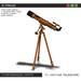 Cartel vintage telescope t