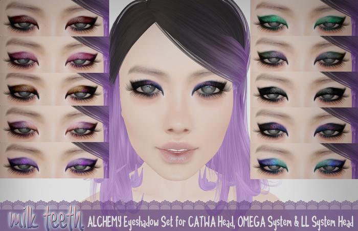 milk teeth. ALCHEMY Eyeshadow set for Catwa, Omega and LL system head