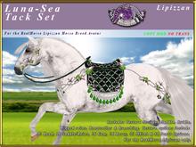 *E* Luna-Sea Tack Set  [BOXED] RH Lipizzan