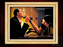 FETISH Jack Vettriano EROTIC ART | Gold Fluted Frame