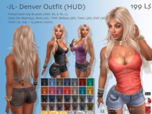 -JL- Denver Outfit (HUD) for Maitreya, Slink (all), Belleza (all), TMP, Tonic (all), EVE (all), Classic