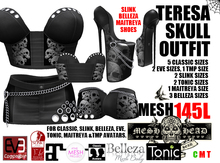Mesh Head - Teresa Skull Outfit - CLASSIC / SLINK / MAITREYA / BELLEZA / TONIC / TMP / EVE
