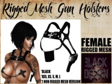 (F) Gun Holsters // Black // Black Design