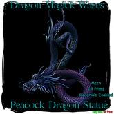 Dragon Magick Wares Peacock Dragon Statue Mesh
