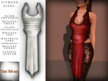 The Muses . Dragonscale . Top . White - Fitmesh - Belleza, Slink, Maitreya, Classic Sizes.