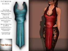 The Muses . Dragonscale . Top . Teal - Fitmesh - Belleza, Slink, Maitreya, Classic Sizes.