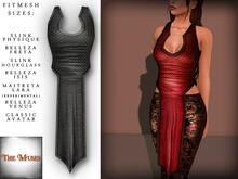 The Muses . Dragonscale . Top . Black - Fitmesh - Belleza, Slink, Maitreya, Classic Sizes.