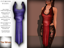 The Muses . Dragonscale . Top . Blue - Fitmesh - Belleza, Slink, Maitreya, Classic Sizes.