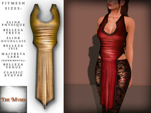 The Muses . Dragonscale . Top . Gold - Fitmesh - Belleza, Slink, Maitreya, Classic Sizes.
