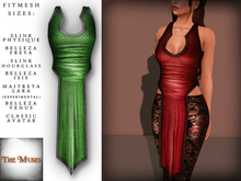 The Muses . Dragonscale . Top . Green - Fitmesh - Belleza, Slink, Maitreya, Classic Sizes.