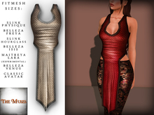 The Muses . Dragonscale . Top . Ivory - Fitmesh - Belleza, Slink, Maitreya, Classic Sizes.