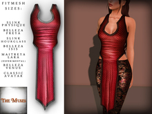 The Muses . Dragonscale . Top . Red - Fitmesh - Belleza, Slink, Maitreya, Classic Sizes.