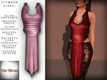 The Muses . Dragonscale . Top . Rose - Fitmesh - Belleza, Slink, Maitreya, Classic Sizes.