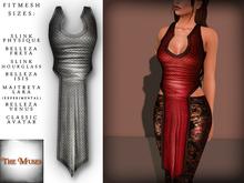 The Muses . Dragonscale . Top . Silver - Fitmesh - Belleza, Slink, Maitreya, Classic Sizes.