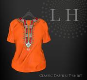 L&H :: Classic Dashiki orange T-shirt - fitted mesh