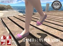 Violetility - Summer Flats [Pink Stripe]