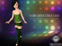 Violetility - Flowy Outfit for Kemono [Cyber Camo]