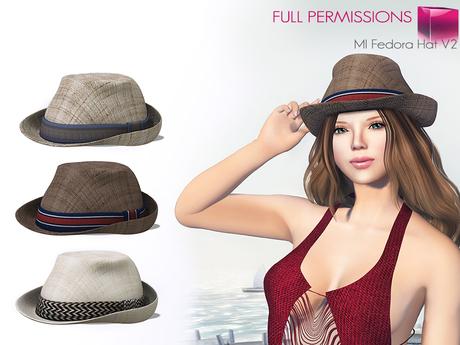 %50SUMMERSALE Full Perm MI Fedora Hat V2