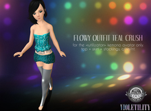 Violetility - Flowy Outfit for Kemono [Teal Crush]