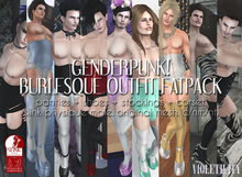 Violetility - Genderpunk! Burlesque Outfit [FATPACK]