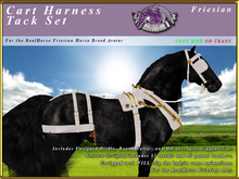 *E* Cart Harness Set  [BOXED] RH Friesian