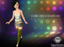 Violetility - Flowy Outfit for Kemono [Lemon Lime]