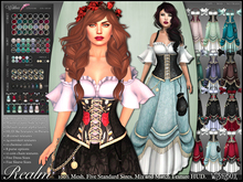 [Wishbox] Realm Mesh Dress FLASH SALE - Texture HUD - Customizable Mix & Match Fantasy Costume Gown Role Play