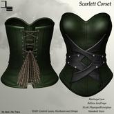 DE Designs - Scarlett Corset - Green