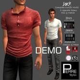 DEMO-PS- JACK : NC shirt & Straight-Leg Jeans combo