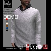 PS : V-Neck Sweater with Shirt - DEMO
