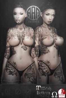 .Absence. Courage Tattoo Appliers Slink/Omega/Maitreya/Belleza