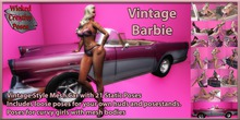 WCP VINTAGE BARBIE CAR WITH 20 POSES BOXED