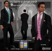 sf design mesh tails tuxedo pastel colour change