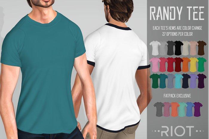 RIOT / Randy Tee - Fatpack | Men's Slink/TMP/ Standard Mesh