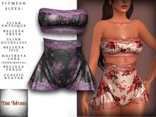 The Muses . Belle . Lingerie . Black/Purple - Fitmesh - Belleza, Slink, Maitreya, Classic Sizes.