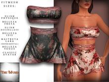The Muses . Belle . Lingerie . Black/Pink - Fitmesh - Belleza, Slink, Maitreya, Classic Sizes.