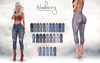 Blueberry melanie distressed capri jeans slmp