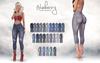 Blueberry melanie distressed capri jeans slmp