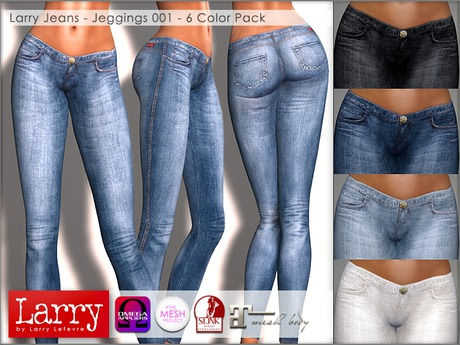 LARRY JEANS - Jeggings 001 - 6 Color Pack