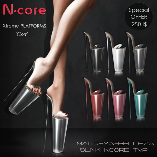 """N-core Xtreme Platforms """"Clear"""" (Pack 6 Colors)"""
