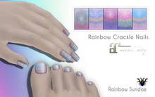 *RS* Rainbow Crackle Nails - Maitreya