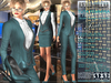 Bella Moda: Tuta Femmina Teal Female Suits - 2 Versions Included + Shoes / 5 Standard Sizes + Fitted - FULL