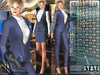 Bella Moda: Tuta Femmina Blue Female Suits - 2 Versions Included + Shoes / 5 Standard Sizes + Fitted - FULL