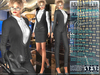 Bella Moda: Tuta Femmina Charcoal Female Suits - 2 Versions Included + Shoes / 5 Standard Sizes + Fitted - FULL