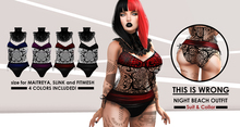 THIS IS WRONG Night Beach outfit (suit & collar) MAITREYA pack - 4 colors included!